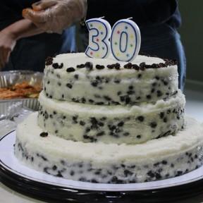 교회설립 30주년 기념 케잇 컷팅식, 사진 및 주보…